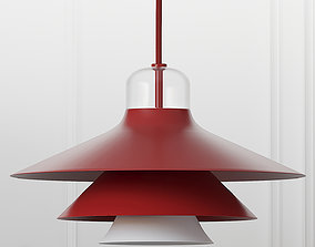3D Ikono Lamp Small EU Red and White