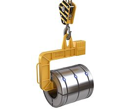 Coil Lifter with Steel Coil 3D model