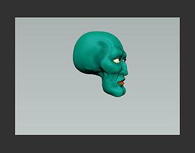 figure handsome squidward tentacle head model