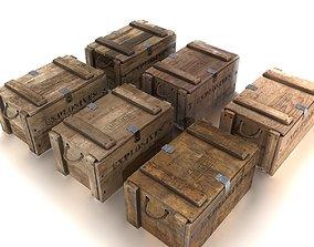 3D model Explosives crate pack PBR