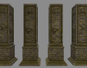 pillar 1 3D asset