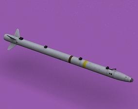 3D model AIM-132 ASRAAM