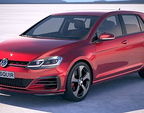 3D model Volkswagen Golf GTI 2017 5-door