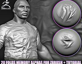 3D model 20 Folds Memory Alphas for ZBrush