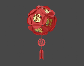 Chinese Lantern 3D asset game-ready