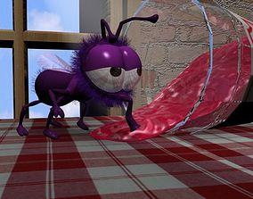 Cartoon Fly Rigged 3D model