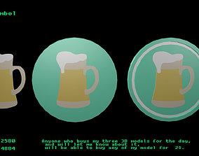 Beer symbol 3D asset
