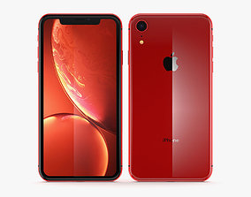 Apple iPhone XR Red 3D model