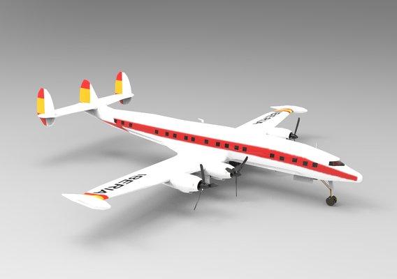 Lockheed Constellation Airplane