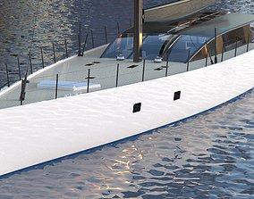 Modern Sailing Yacht 3d Exterior