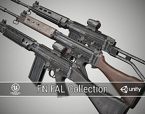 FN FAL Collection 3D model