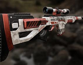 Rifle 3D model VR / AR ready