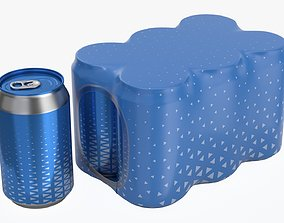 Packaging for 330ml six standard beverage soda beer 3D