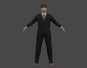 rigged businessmen fully rigged 3D model