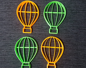 3D print model Hot Air Balloon Cookie Cutter