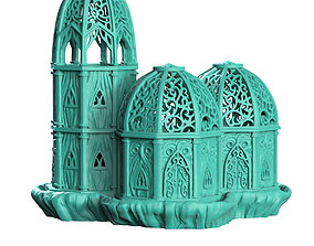 royal palace wood elf 3D print model