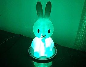 Rabbit lamp electronics 3D print model