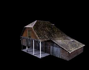 3D asset Old Abandoned House