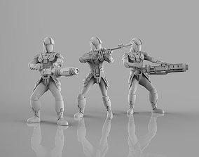 3D print model Ancient Dark Troopers Heavy Weapons Team