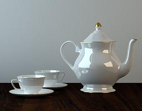 Teapot cups 3D model