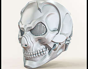Skull Helmet Steampunk Air Soft Sci Fi 3D print model 3