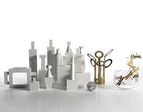 White Decor Composition 3D model