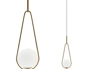 Fixture hanging Loop Brass lamp 3D