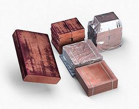 3D Copper ingot 17 and 18