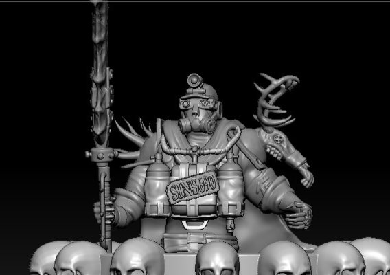Postapocalyptic Armor Miner