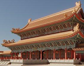 3D model Asian Modular Temple