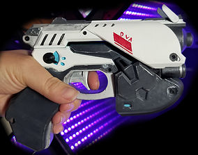 3D print model prop Dva Pistol Cosplay Prop No LEDs