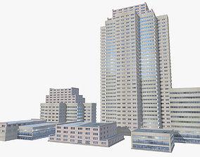 Modern buildings pack 3D model