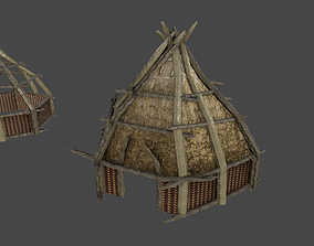 ORC HOUSE FOR MEDIEVAL OR VIKING 3D asset