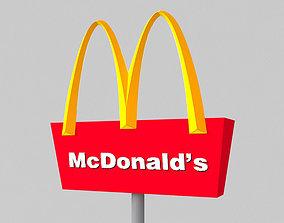 3D model McDonald sign
