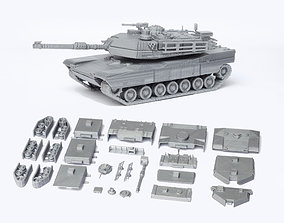 M1 Abrams Tank Detailed Model Kit