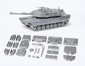 M1 Abrams Tank Detailed Model Kit