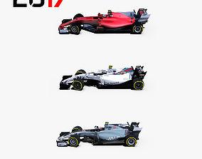 Formula 2017 cars pack 1 3D asset
