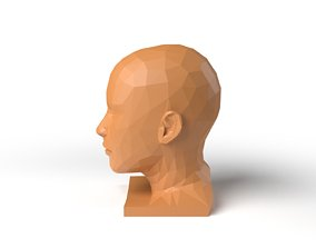 3D asset HumanHead Low Poligonal