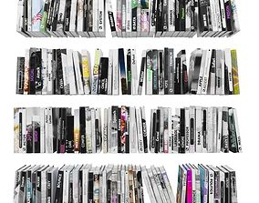 Books 150 pieces 4-2-1 3D asset