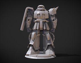 3D print model Zaku II Gundam
