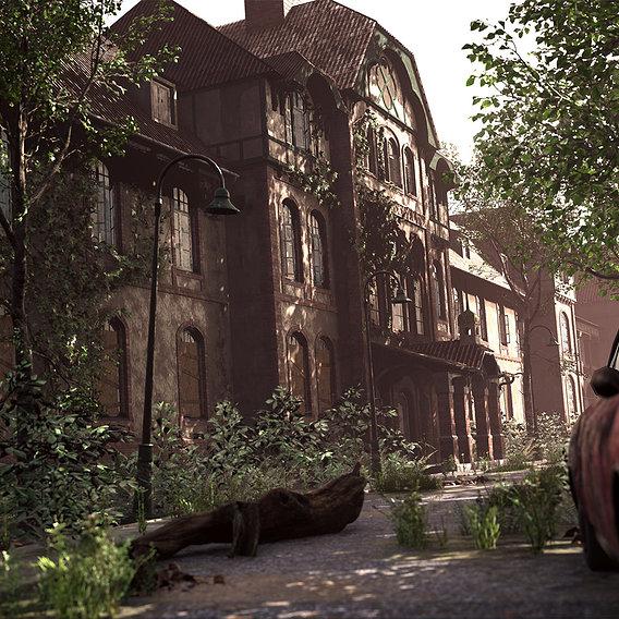 Abandoned hospital in Germany Beelitz Heilstatten