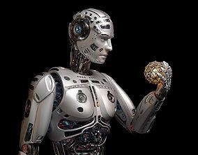 3D model Futuristic Robot Man Rigged