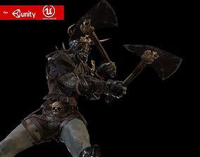 Ork Berserker 2 3D model animated