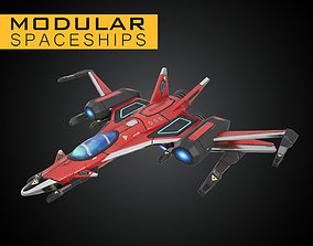 Star Sparrow Modular Spaceship 3D asset