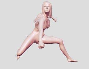 3D print model Woman fighter statue
