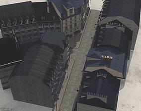 3D model European Street in obj and fbx format