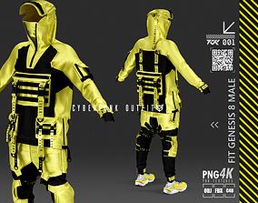 3D cyberpunk outfit male y