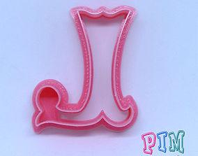 3D print model Vintage letter L cookie cutter tools