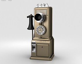 3D model Gray Telephone Pay Station