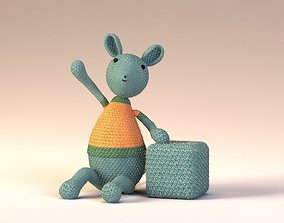 3D asset yarn wire mouse toy